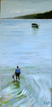 Paddling, St. Ives Harbour